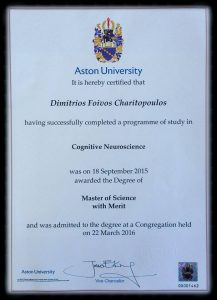 MSc Cognitive Neuroscience